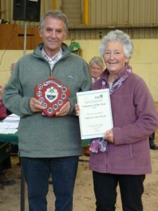 Malcolm and Janet Barrell, our Volunteers of the Year for 2013