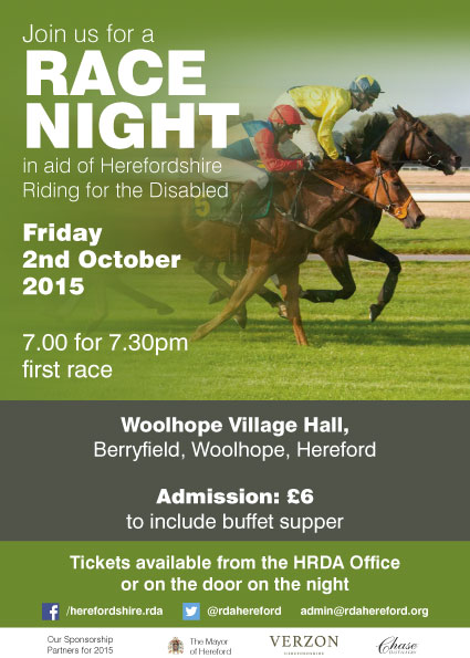 race night in aid of hrda